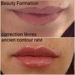 CORRECTION MAQUILLAGE PERMANENT LEVRES RATEES